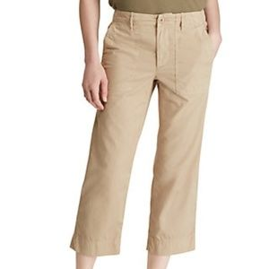 Lauren Ralph Lauren | Cotton Twill Straight Pants